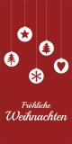 Bordeauxrote Weihnachtskarte