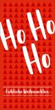 Rote Weihnachtskarte