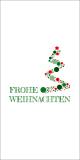 Grüne-rote Weihnachtskarte
