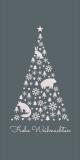 Weihnachtskarte in Grau mit Weihnachtsbaum L-DIN Hochformat