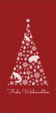 Weihnachtskarte in Rot mit Weihnachtsbaum L-DIN Hochformat