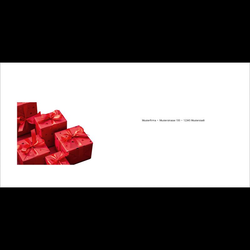 Couvert Rote Weihnachtskarte