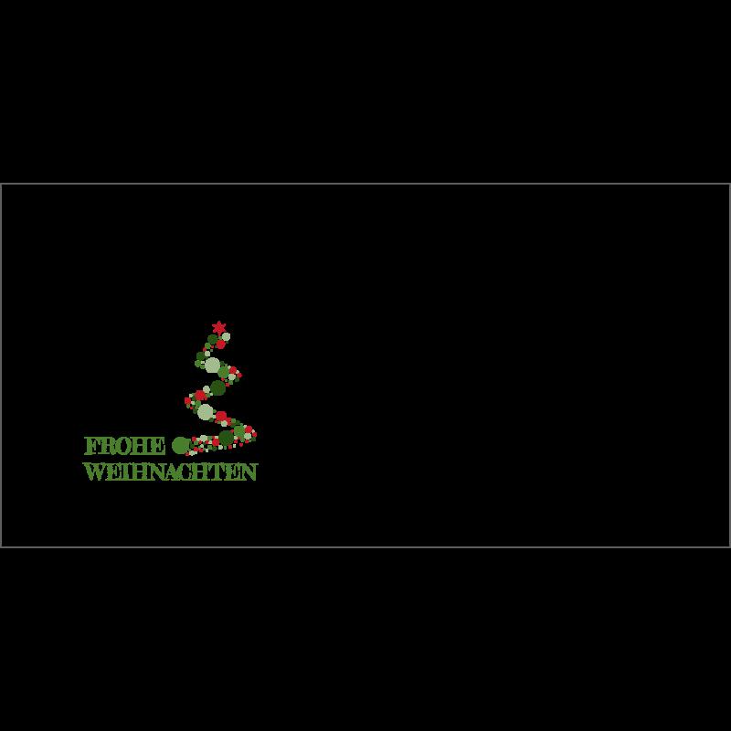 Couvert Grün-rote Weihnachtskarte
