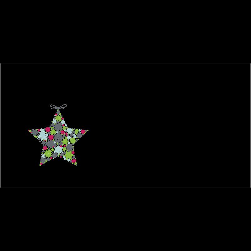 Couvert Weihnachtskarte in Grau mit Weihnachtsstern