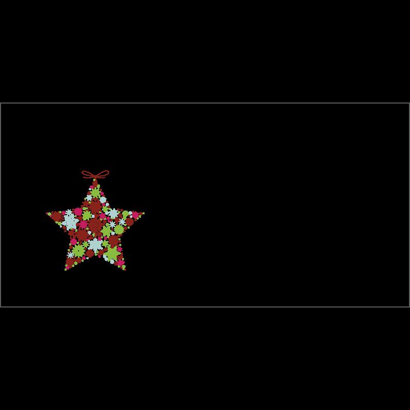 Couvert Weihnachtskarte in Rot mit Weihnachtsstern
